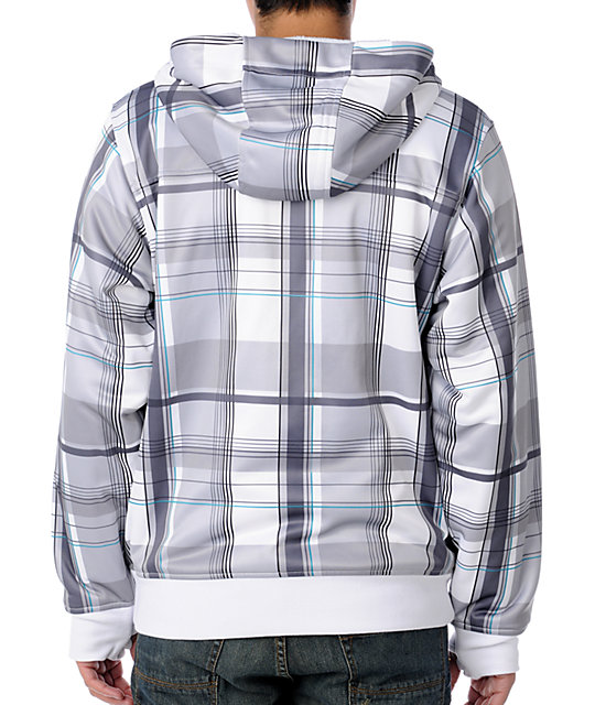 Empyre Grounded White & Blue Tech Fleece Jacket