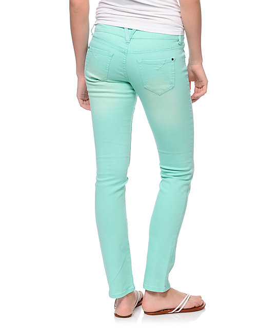 Empyre Hannah Ice Green Mint Skinny Jeans