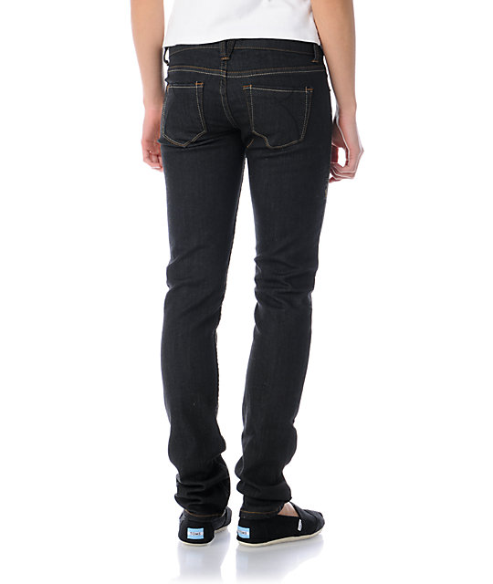 Empyre Hannah Raw Black Skinny Jeans