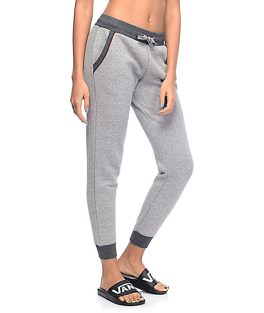 Empyre Hattie Contrast Pocket Heather Grey Jogger Pants