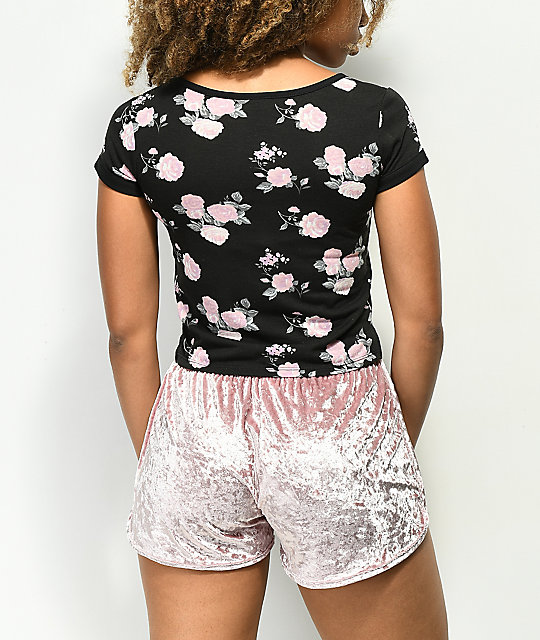 Empyre Hawn Floral Black T-Shirt