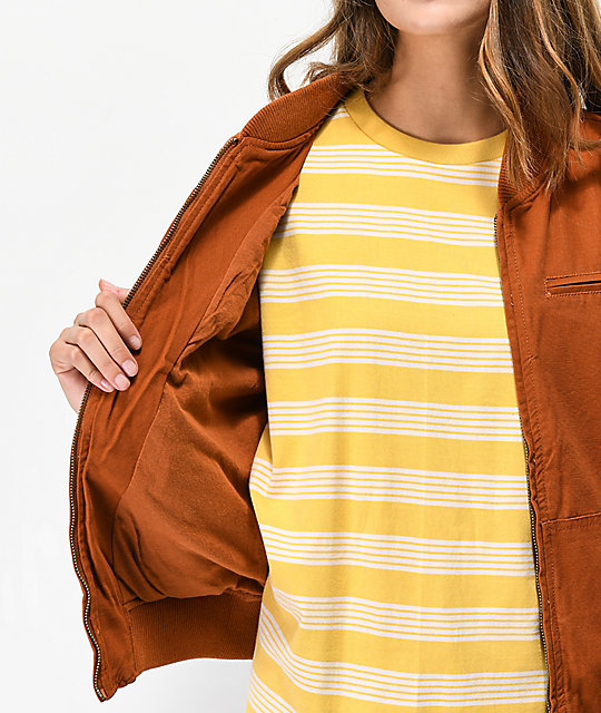 Empyre Hazelle Brown Bomber Jacket