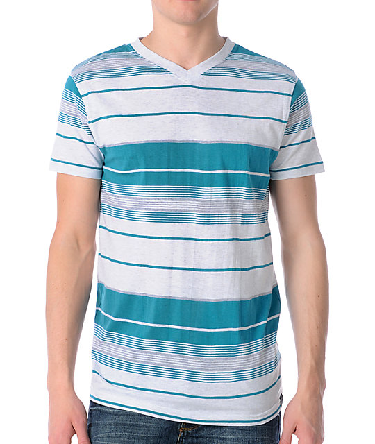 Empyre Hierarchy Turquoise V-Neck T-Shirt