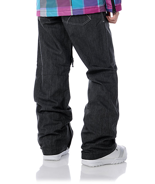 Empyre Hilltop 2 Black Denim 10K Chino Snowboard Pants