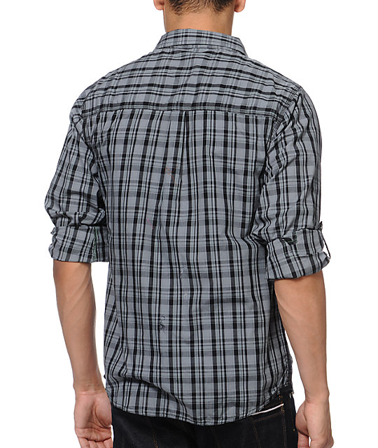 Empyre Hot Chip Black Plaid Button Up Shirt