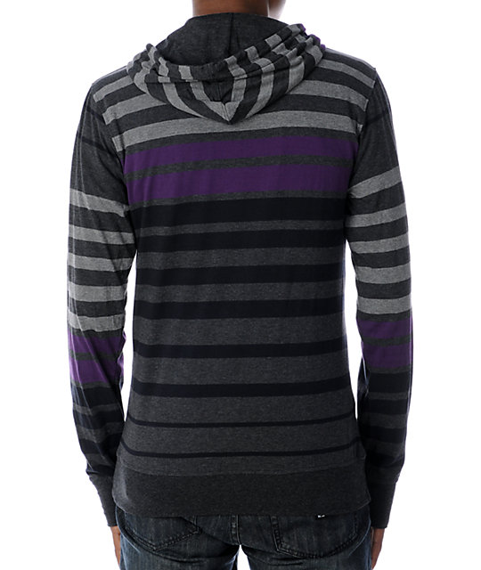 Empyre Hounded Charcoal & Purple Knit