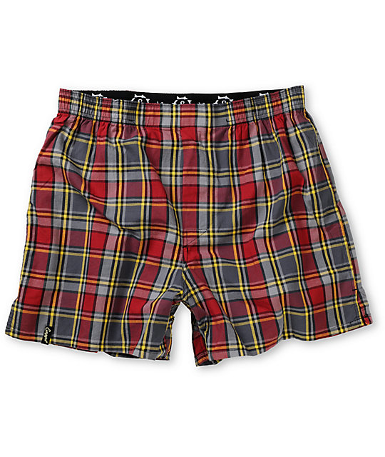 Empyre Huntin Marn Red Plaid Boxers