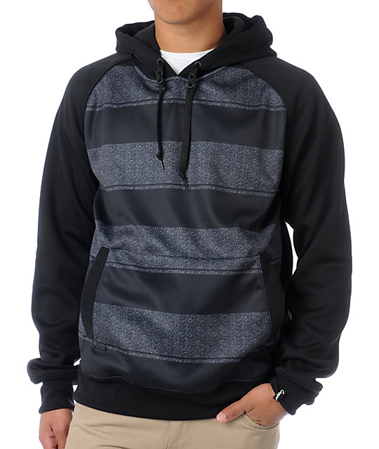 Empyre Icon 2013 Black & Grey Tech Fleece Jacket Pullover Hoodie