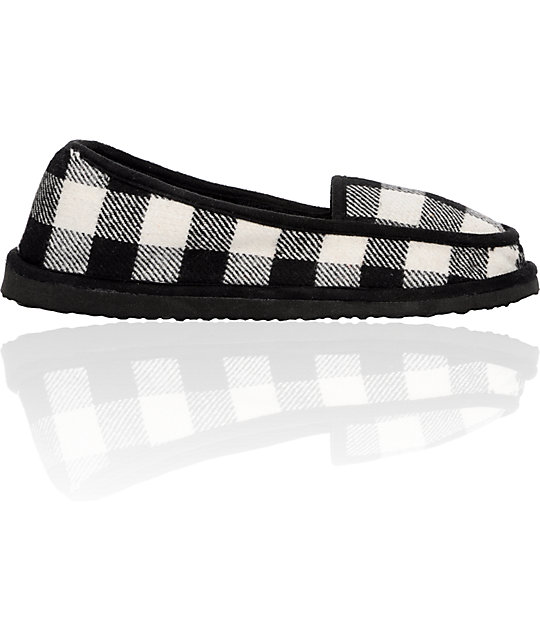Empyre Idle Black & White Slippers