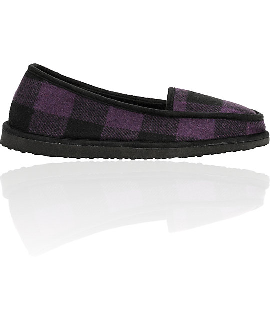 Empyre Idle Purple & Black Slippers