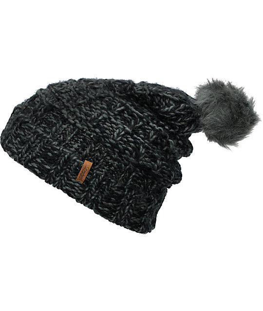 Empyre Indu Grey & Black Knit Beanie