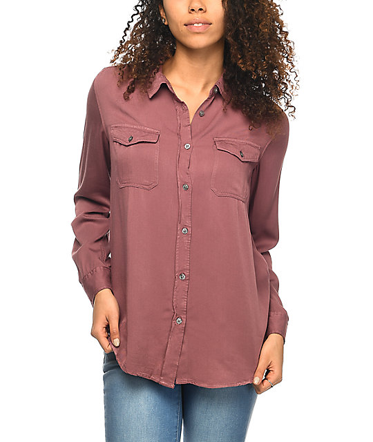 Empyre Jaimie Mauve Button Up Shirt