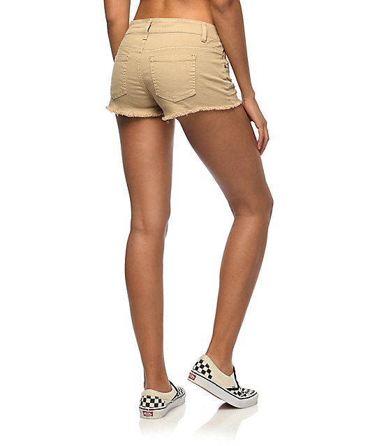 Empyre Jenna shorts rotos en color caqui