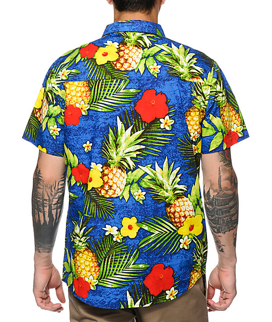 Empyre Juiced Tropical Floral Button Up Shirt