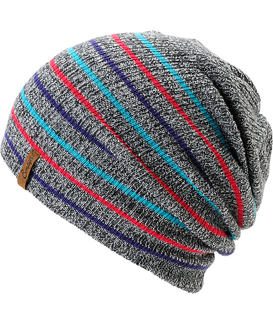5f5811ef3b4 Empyre Juliet Grey Striped Beanie
