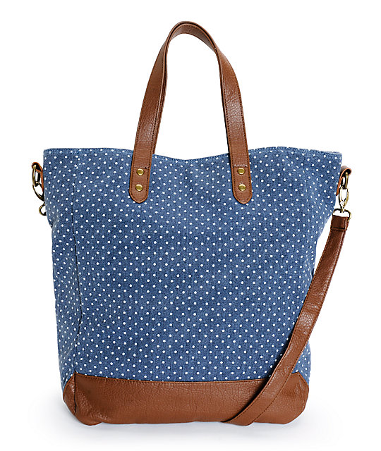 Empyre Karli Chambray Polka Dot Tote Bag