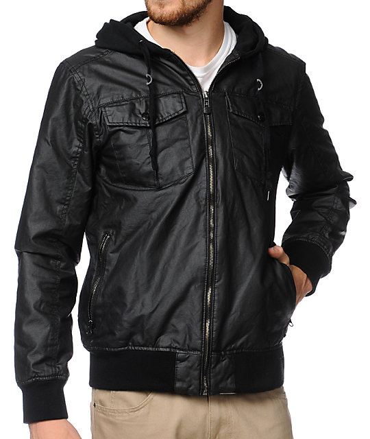 Empyre Kelso Black Waxed Canvas Jacket