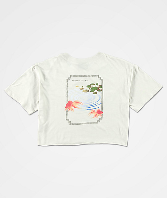 Empyre Kipsy Koi Fish Pong Neutral Crop T-Shirt