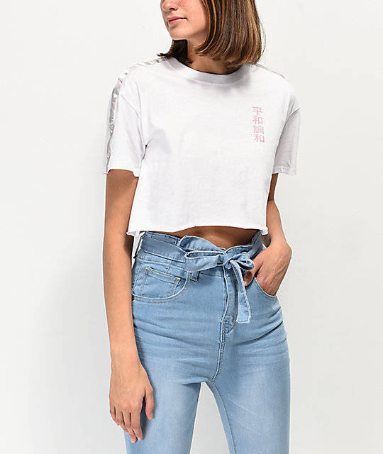 Empyre Kipsy Taping White Crop T-Shirt