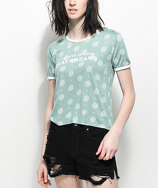 Empyre Knoxville Daydreams Green Ringer T-Shirt