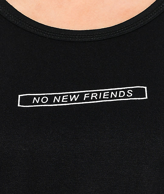 Empyre Knoxville No Friends Black Crop T-Shirt
