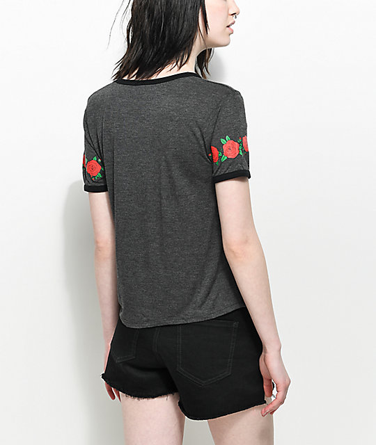 Empyre Knoxville Rose Babe Vibes Ringer T-Shirt