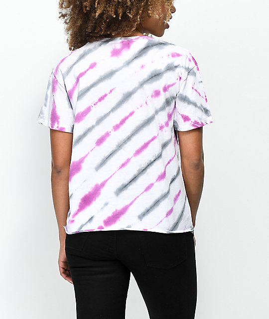 Empyre Kym Peace Sign Pink Tie Dye T-Shirt