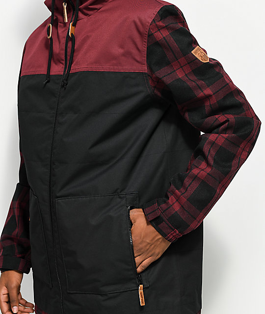 Empyre Larch Black & Red 10K Snowboard Jacket