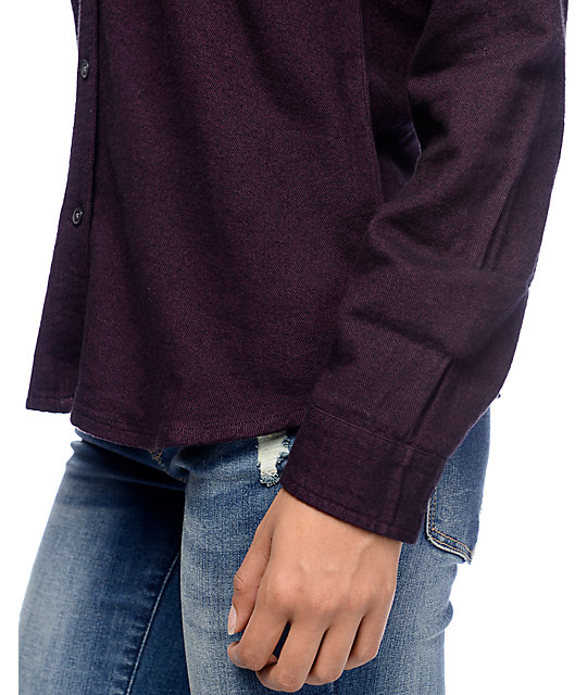 Empyre Lenox Blackberry Hooded Flannel Shirt
