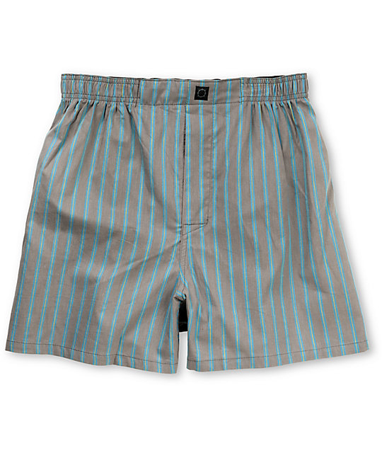 Empyre Lines Grey & Blue Stripe Boxers