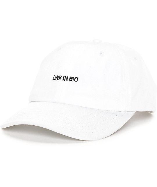 09dd635d92fb Empyre Link In Bio White Strapback Baseball Hat