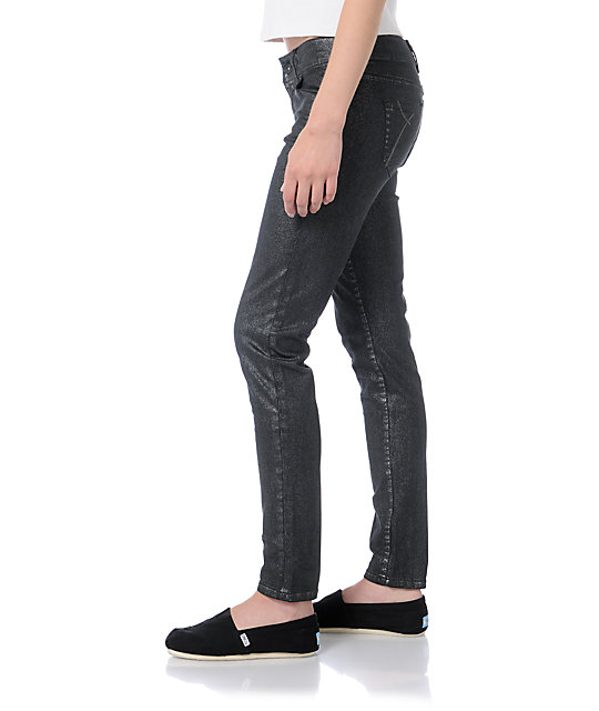 Empyre Logan Black Metallic Skinny Jeggings