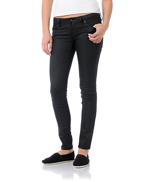 Empyre Logan Black Wax Skinny Jeggings