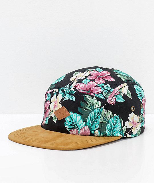 7ca7e7f46e4 Empyre Luana Black Floral Strapback Hat