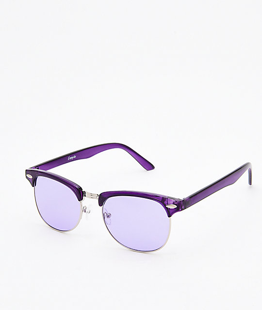Empyre Lyla Fashion Purple & Silver Transparent Sunglasses