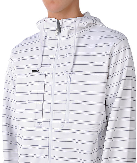 Empyre Madrid White Stripe Tech Fleece Jacket