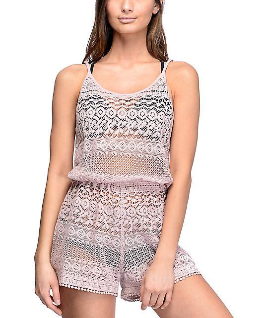 055c6b94eab Empyre Mariella Mauve Crochet Romper