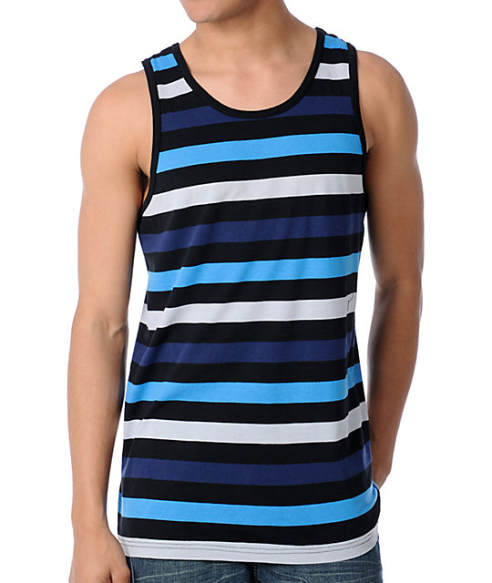 Empyre Mass Cool Black Stripe Tank Top