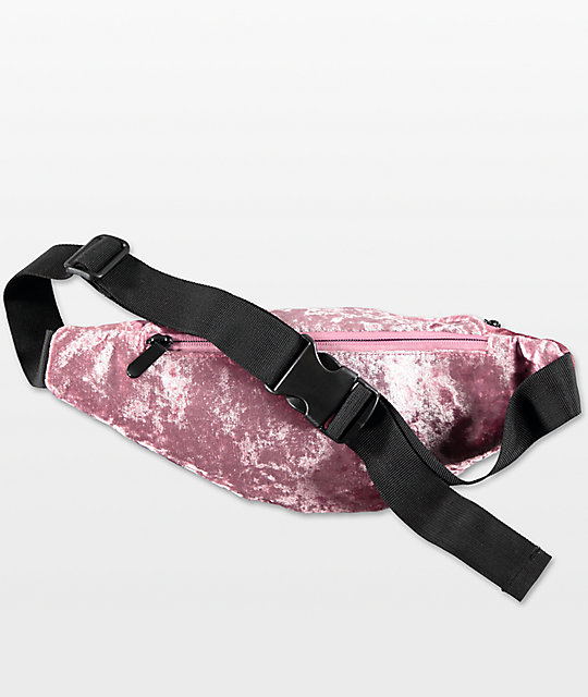 Empyre Mauve Crushed Velvet Hip Pack