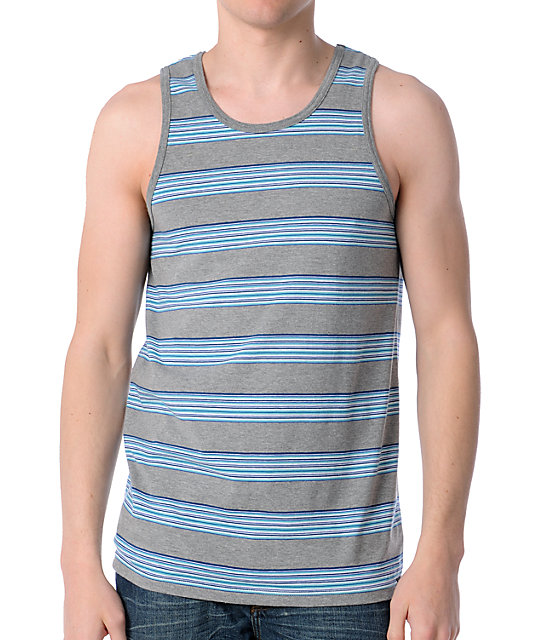Empyre Meat Stripe Grey Stripe Tank Top