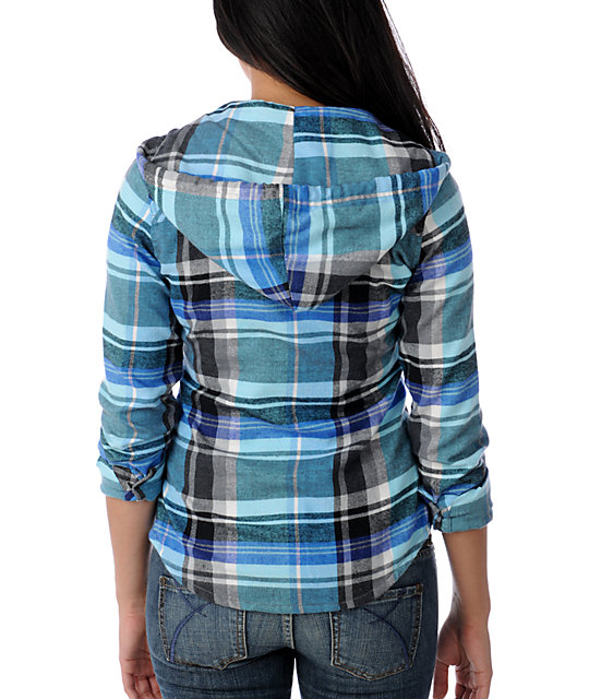 Empyre Melee Blue Hooded Flannel Shirt