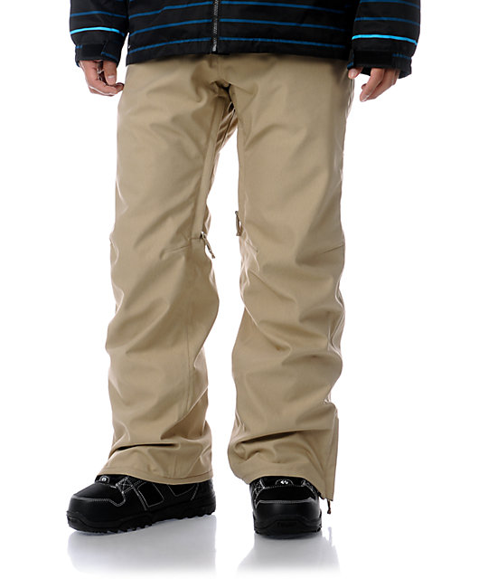 Empyre Mens Skeletor Khaki 10K Mens Snowboard Pants