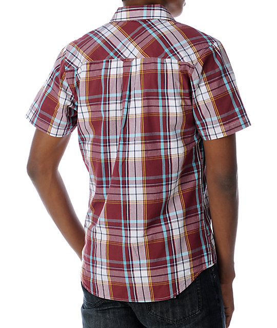 Empyre Mesa Red & White Woven Shirt