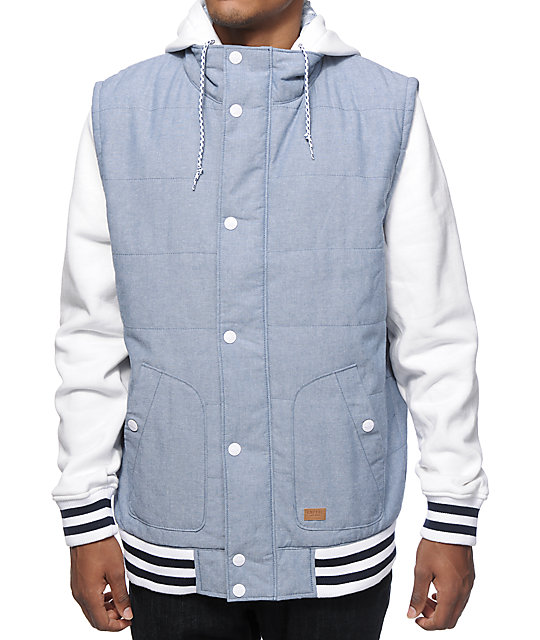 Empyre Mixtape Chambray Vest Hoodie