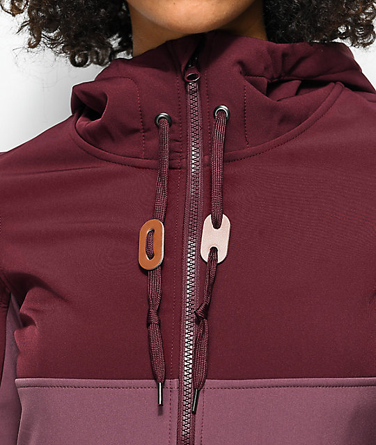 Empyre Morgan Tech Fleece Burgundy Zip Up Hoodie