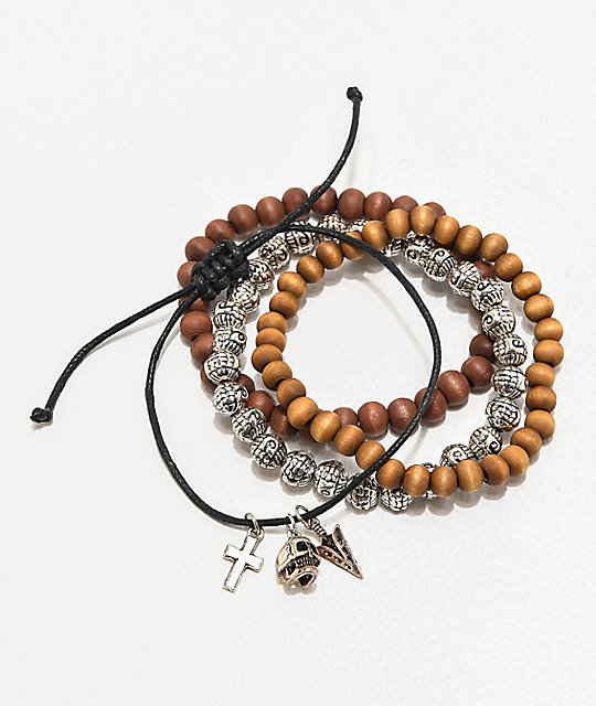 Empyre Neutral Bead 4 Pack Bracelets