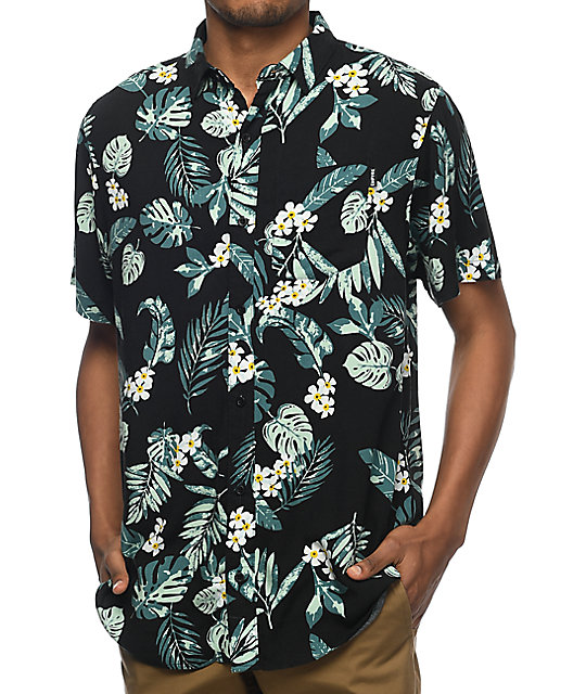 Empyre Night Moves camisa tropical en negro