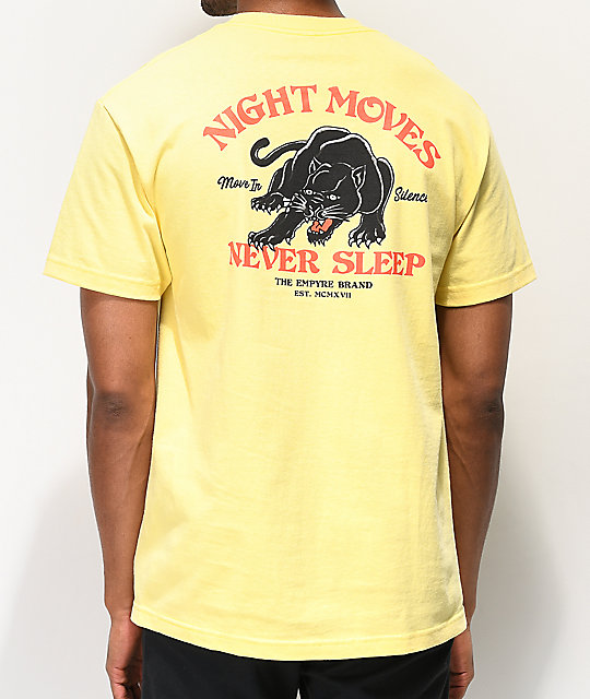 Empyre Night Moves camiseta amarilla