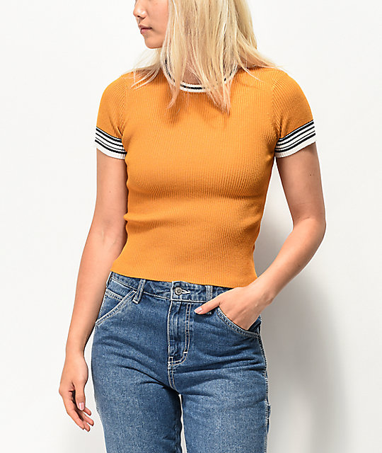 Empyre Norie Knit Orange T-Shirt