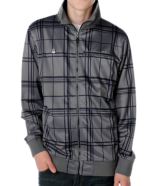 Empyre Oldschool Grey Plaid Track Jacket